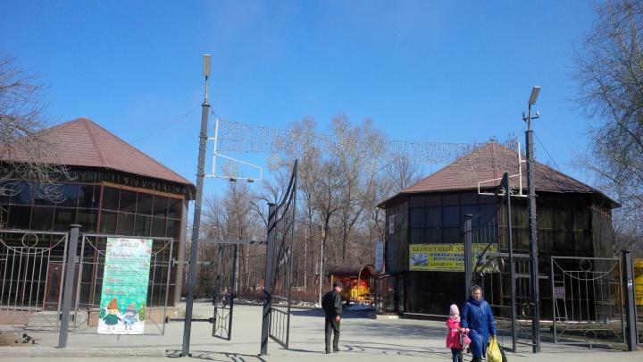 Мэрия нашла в саду Кирова два незаконных кафе, которые стоят 5 лет