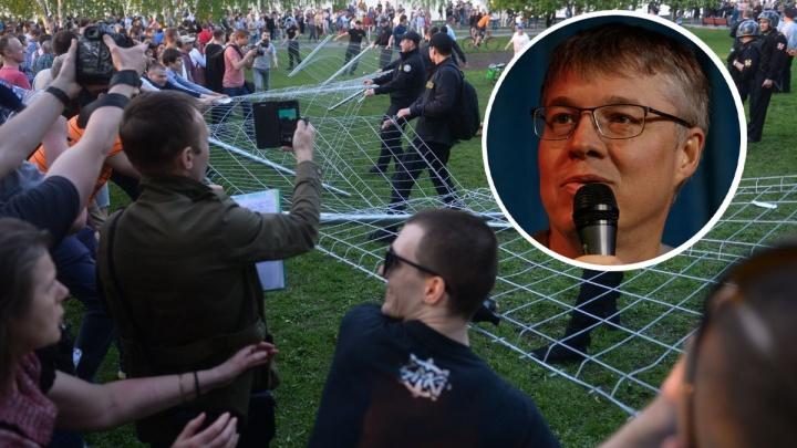 «Единственная ошибка Высокинского — оставить забор»: бывший вице-мэр о референдуме и опросе