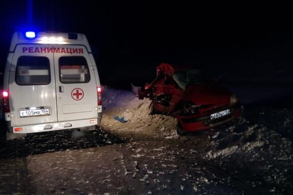 Ехавшая в горку «Хонда» столкнулась со спускавшимся грузовиком