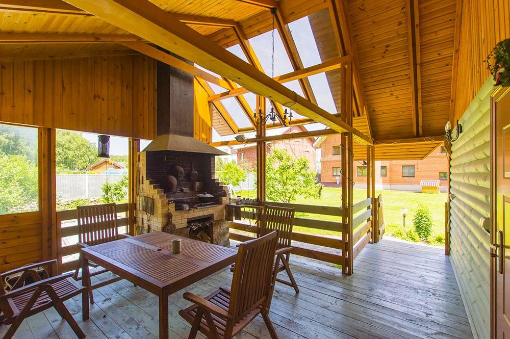Строим шашлычную зону на даче
