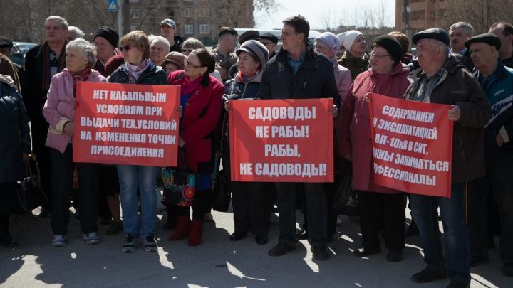 Сотня новосибирских дачников собралась на митинг из-за проблем с электричеством