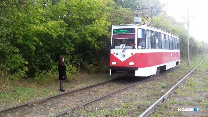 На Королёва дети выбегают на трамвайные пути из-за кустов. Водители отказываются от маршрута