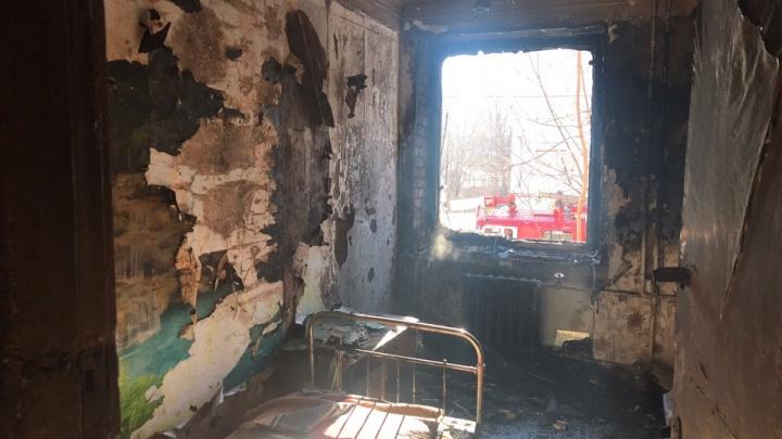 В Прикамье на пожаре пострадала 94-летняя пенсионерка