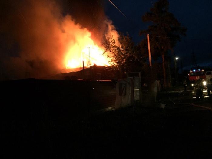 Пожар на ул. Белоусова