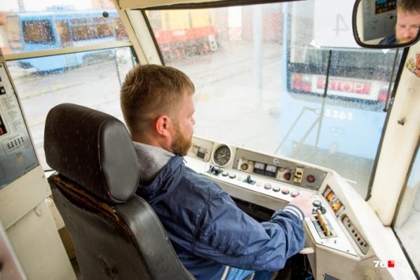 Один из б/у трамваев
