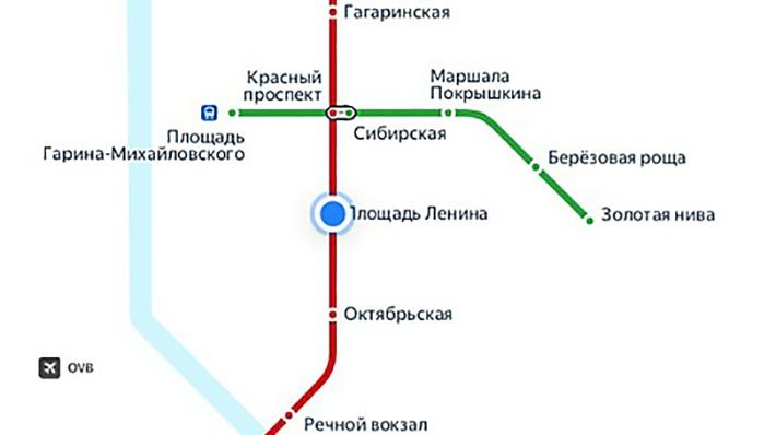 В мобильном приложении Яндекс.Метро появилась схема новосибирского метрополитена