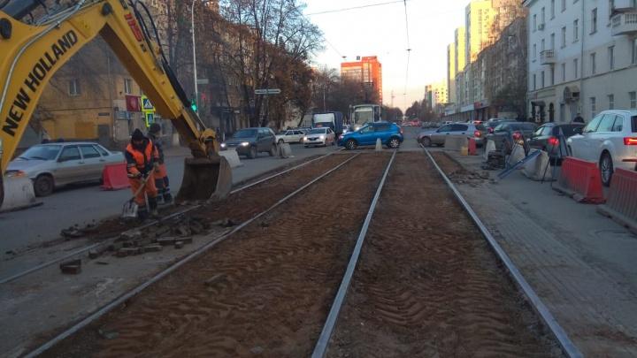 В Уфе ограничили движение из-за ремонта трамвайных путей
