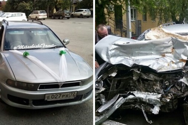 Автомобиль таксиста Александра Матаева, на котором он попал в аварию 15 мая. Сейчас, говорит мужчина, машина восстановлению не подлежит