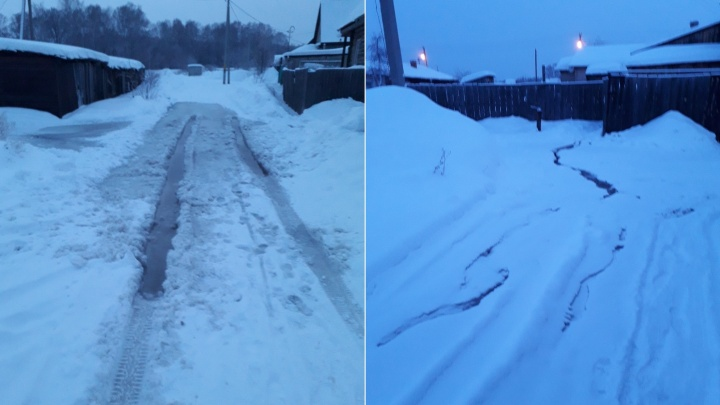 «Колонка одна на весь посёлок»: жители Откормсовхоза остались без воды, но с подтопленной дорогой