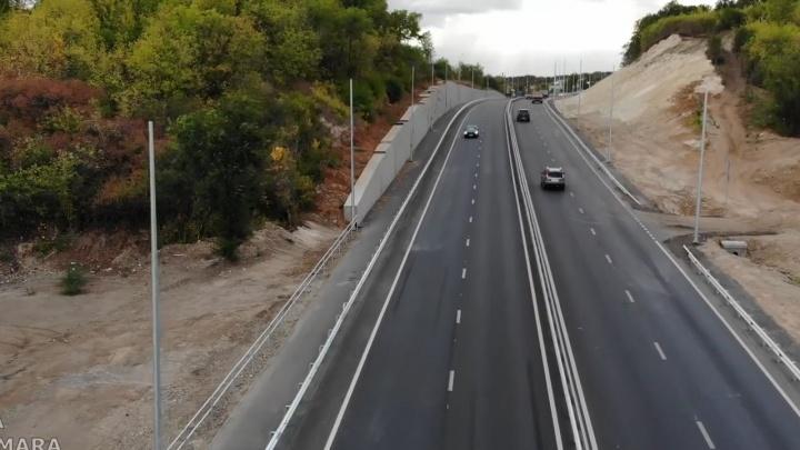 Ради дороги рубили гору: самарец снял обновленное Красноглинское шоссе с коптера