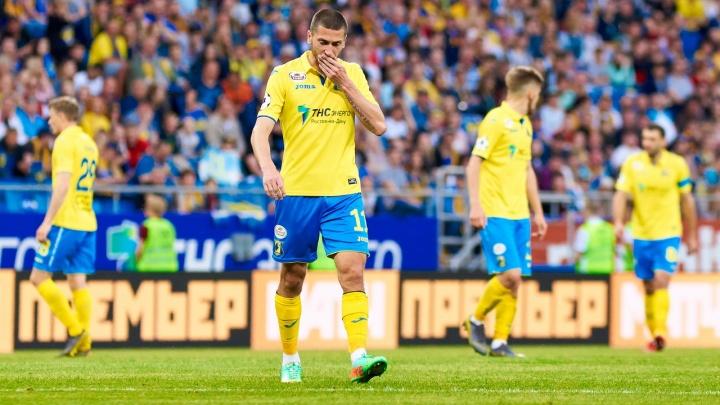 Матч «Ростов» — «Краснодар» завершился поражением желто-синих