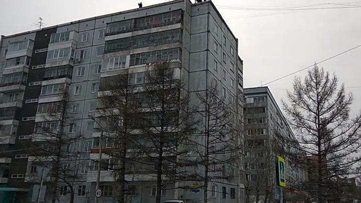 «Эту страну не победить»: дикий способ ремонта крыш в Красноярске сняли очевидцы