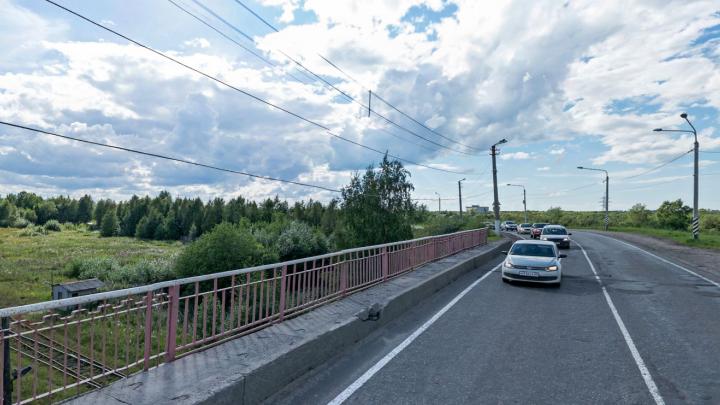 На путепроводе на Кировской улице в Архангельске ввели ограничение для большегрузов