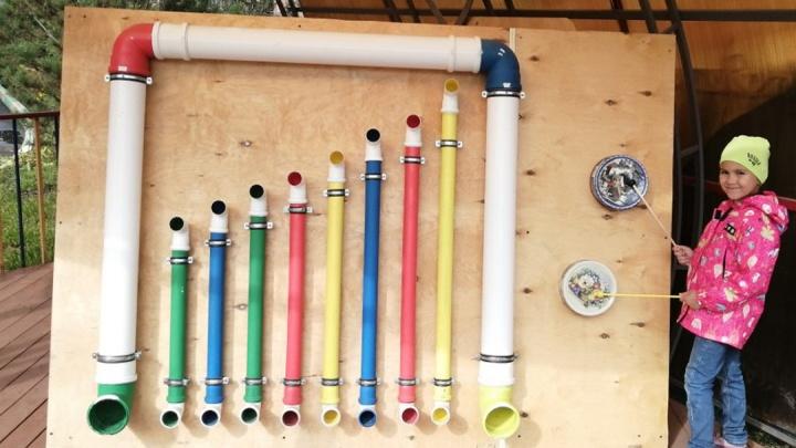 В красноярском детском саду для воспитанников установили уличный орган