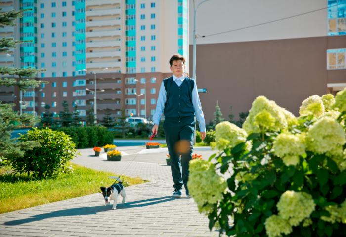 Уникальный двор создали авторы жилого квартала «Миллениум» на Юго-Западе