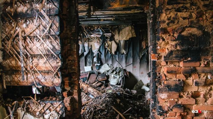 В крупном пожаре в Самарской области погибли мужчина и женщина