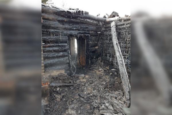 Частный дом вселе Полойка загорелся вночь на10февраля