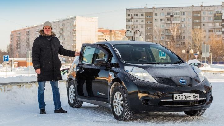 Сибиряк в морозы ездит на электрокаре и экономит по 10 тысяч в месяц на бензине — обзор авто