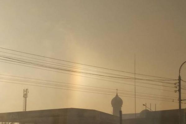 Гало в виде радуги
