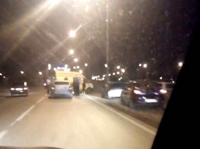 Авария случилась в 22:40