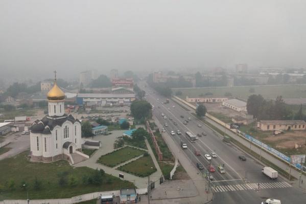 Дым и смог от лесных пожаров в Красноярском крае и Иркутской области появились в Новосибирске в воскресенье, 21 июля