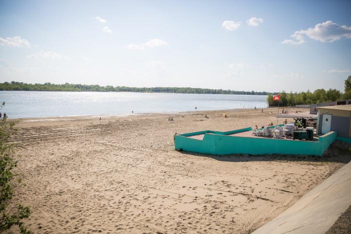 Инцидент произошёл на пляже «Заельцовский»