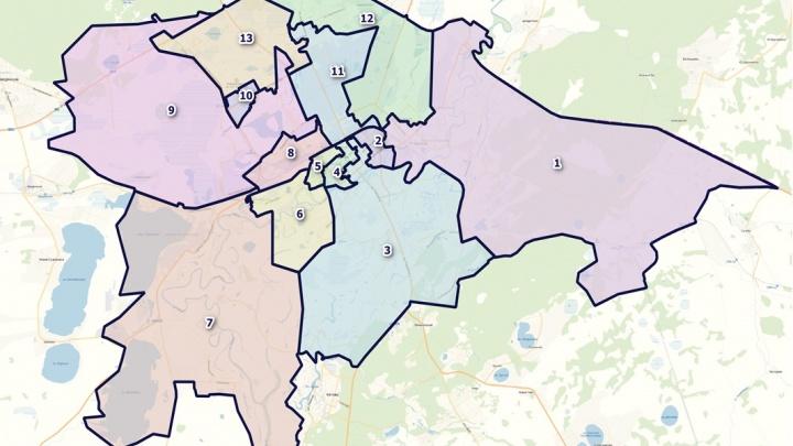 Опубликована схема избирательных округов на выборах в городскую думу Кургана