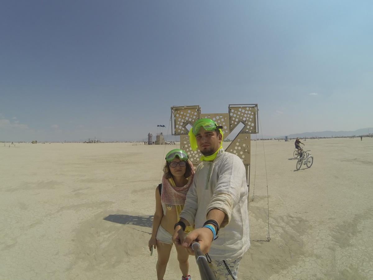 Ирина и Станислав в пустыне