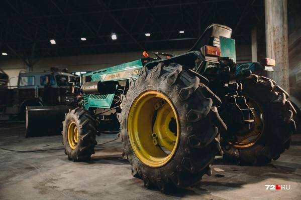 Вот так выглядит трактор Ferrari