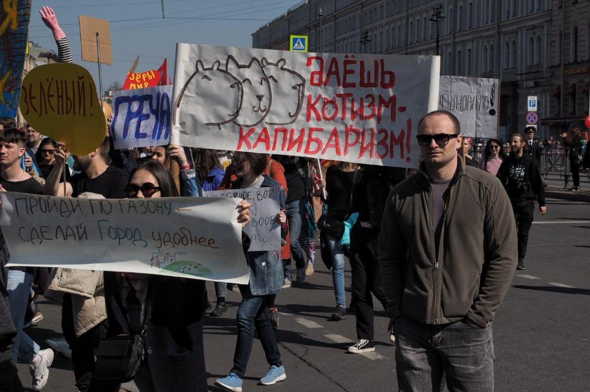 В Санкт-Петербурге в ходу  политические шутки