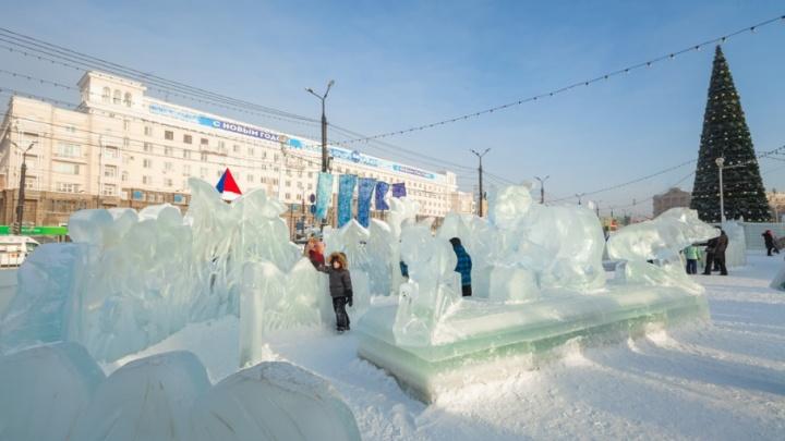 Ледовый городок за 48 секунд: смотрим, как главная площадь Челябинска преображалась к празднику