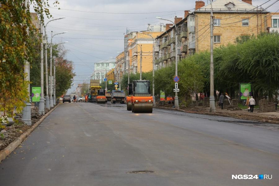 Стало известно, когда окончатся дорожно-ремонтные работы напроспекте Мира вКрасноярске