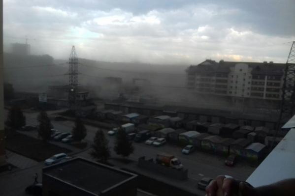 Пылевая буря в ЖК «Берёзки»
