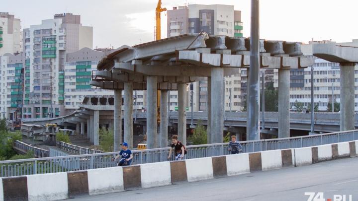 В Челябинске из-за строительства развязки за цирком снова перекрыли движение