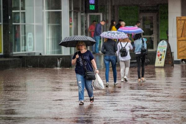 Согласно прогнозу, всю первую половину недели в отдельных районах Новосибирска будет идти небольшой дождь