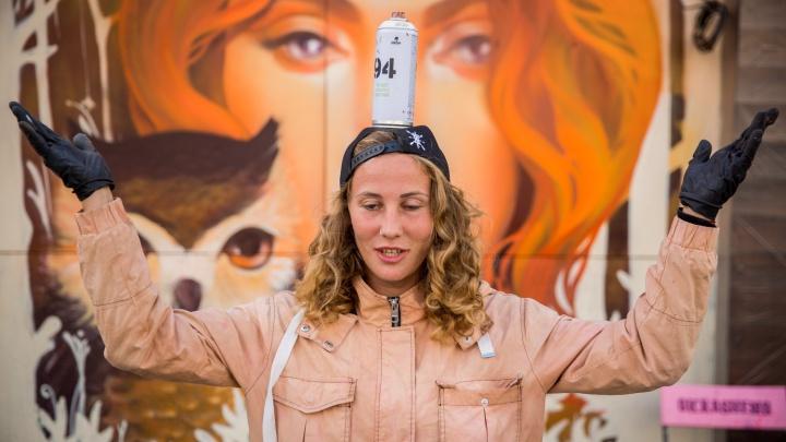 Ягода и её красавицы: 16 потрясающих граффити девушки из Новосибирска