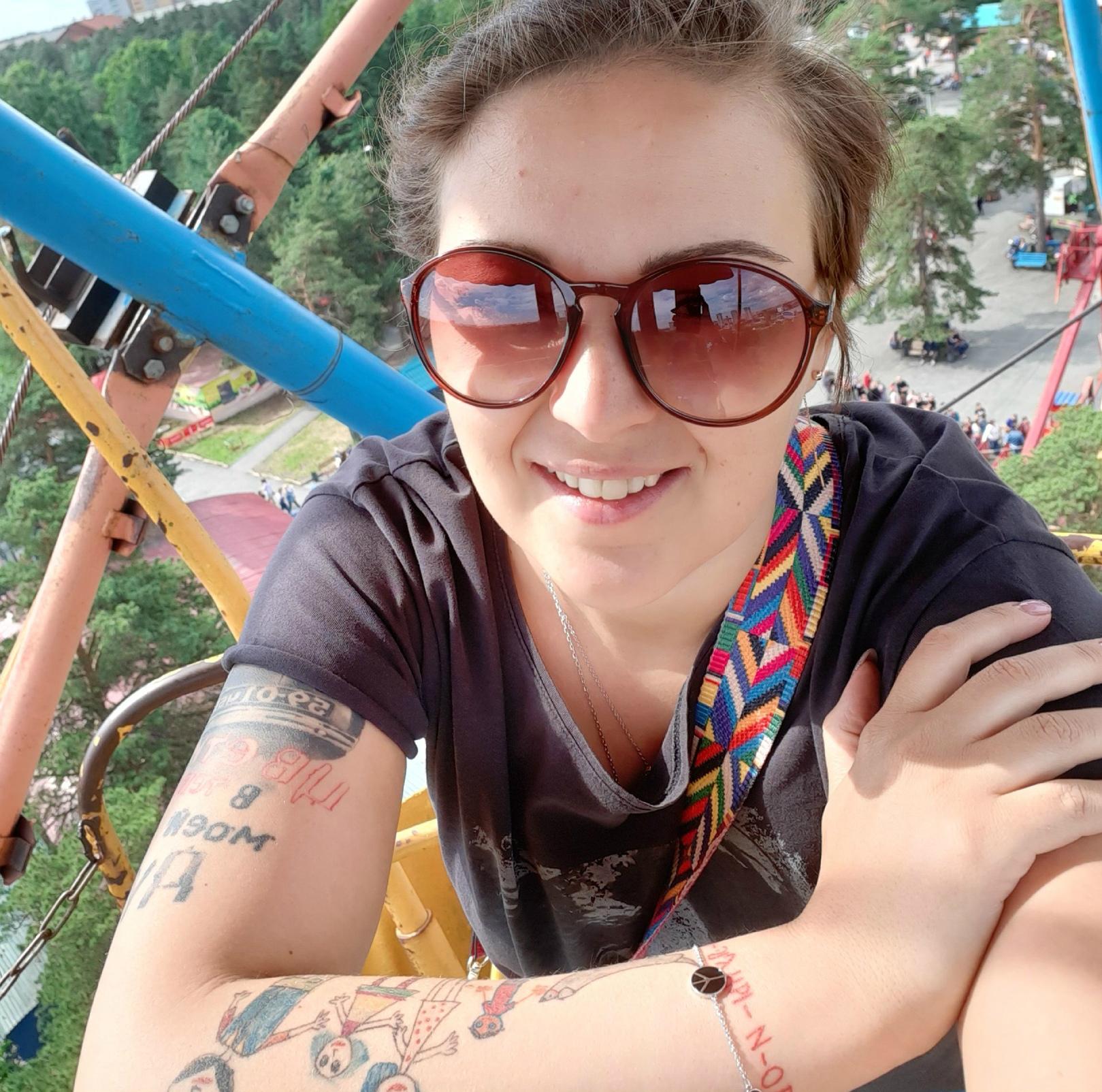 Каждая татуировка на теле Дарьи для неё особенная