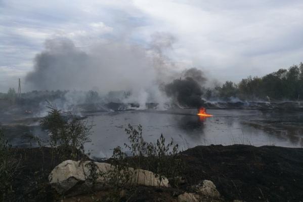 Крупный пожар был на полигоне в августе