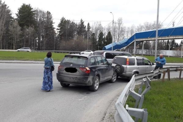 Авария произошла в 17:50, уточняет «Автоспас»