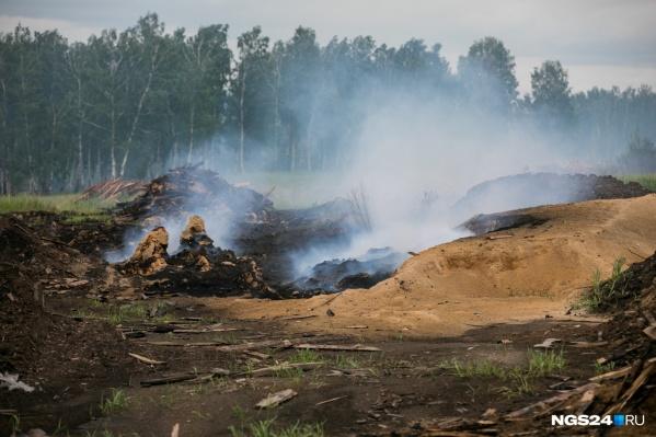 Свалки отходов горят на окраинах города