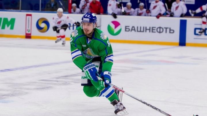 Уфимский хоккеист Игорь Макаров получил травму в игре с «Северсталью»