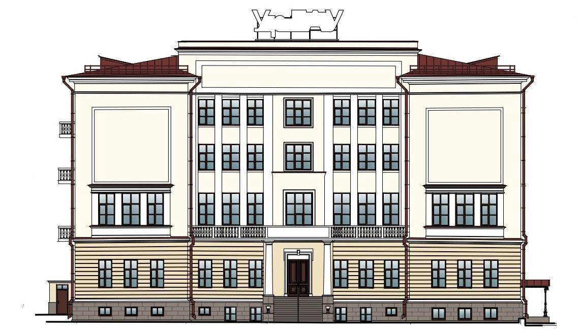 Западный фасад университета после ремонта