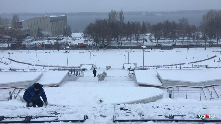 Спуск площади Славы украсят 200-метровым светодиодным фонтаном