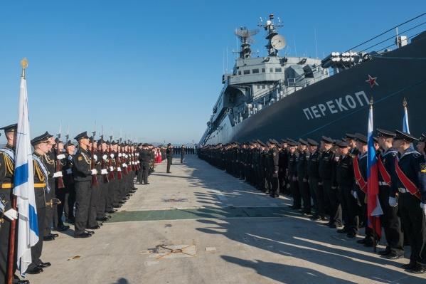 Второго сентября учебный корабль зашёл в Мурманск