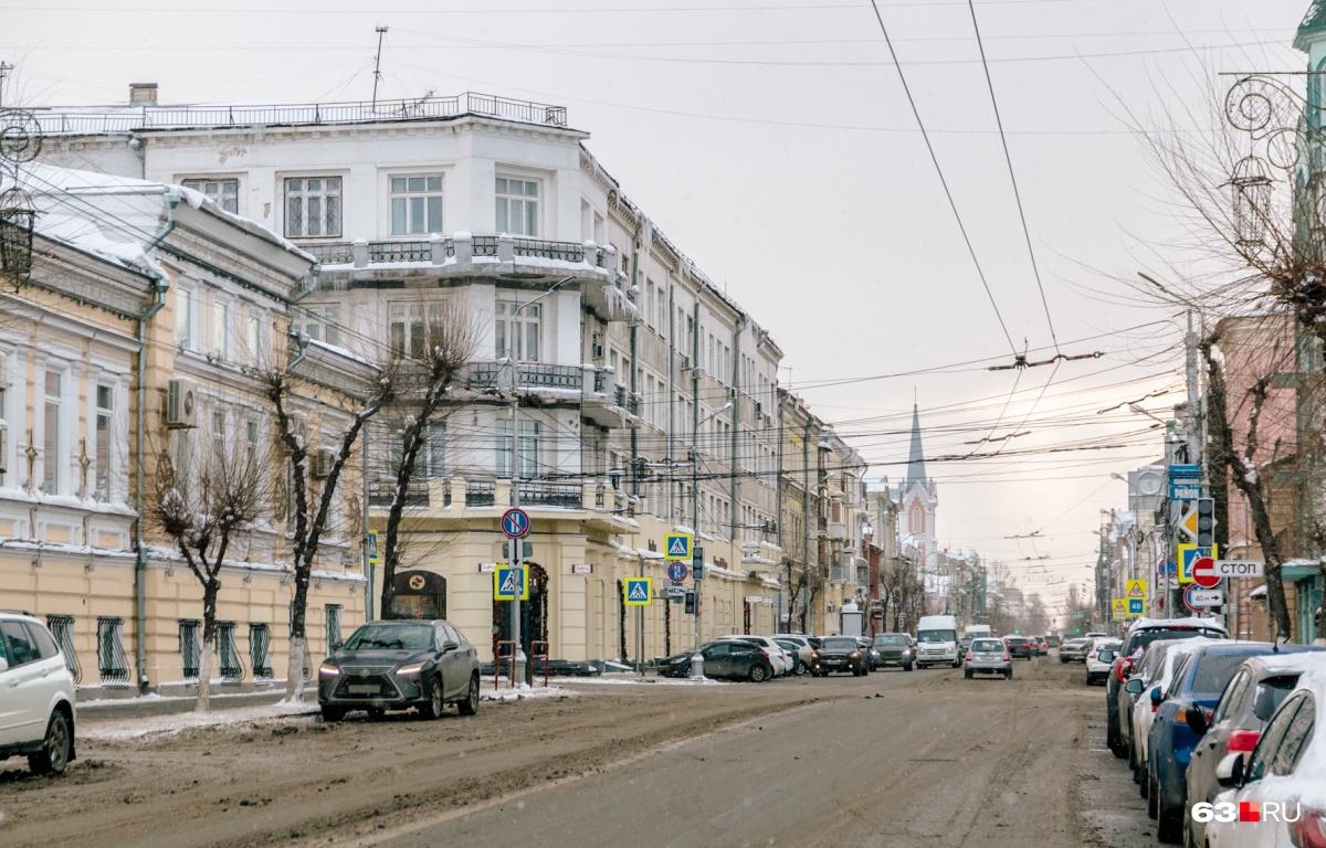 Одно из очевидно красивых мест в Самаре — улица Куйбышева