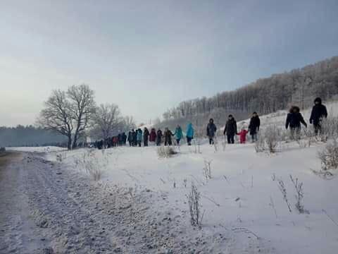 В Башкирии 500 человек вышли на флешмоб в защиту Куштау