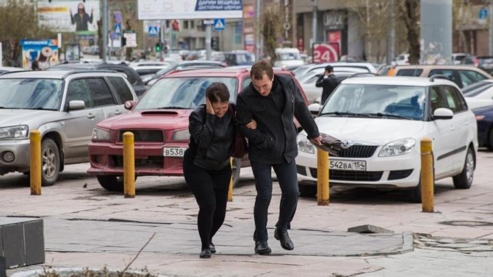 Новосибирцы получили SMS-предупреждения о ветре скоростью до 27 м/с