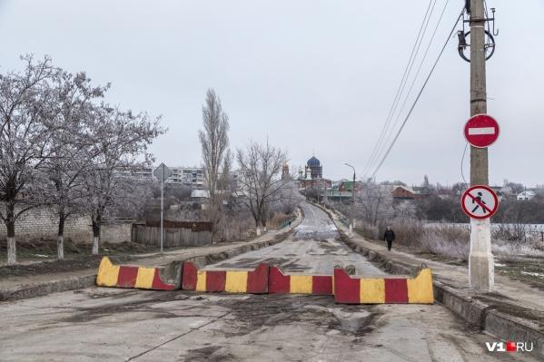 Мост закрыт с октября прошлого года