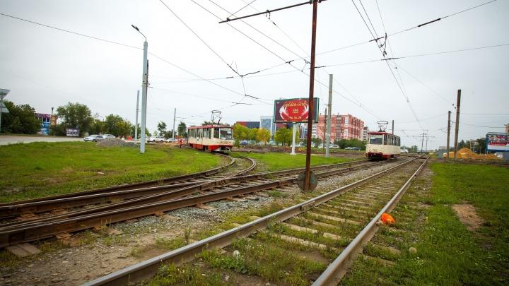 «Это неэстетично»: власти Челябинска возмутила трава на трамвайных путях
