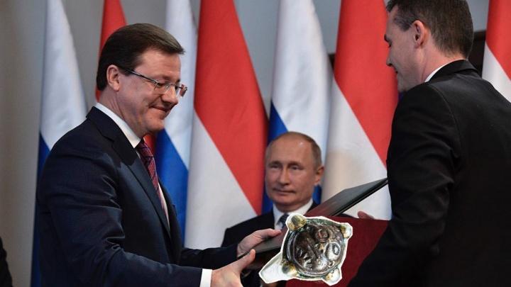 Дмитрий Азаров подарил венгерскому чиновнику древний перстень